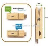 Wooden Clip USB Flash Drive images