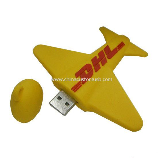 Silicone Plane Shape USB Flash Drive