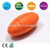 PVC Silicon Rugby ball shaped Usb flash Drive images