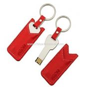 Mini USB Key with leather pouch images