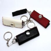 USB Stick with leather pouch images