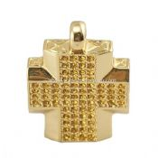 Gold Cross Shape Jewelry USB Flash Drive images