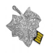 Maple Leaf Shape Jewelry USB Flash Drive images