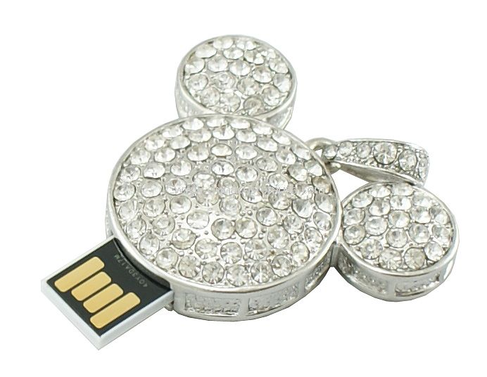Mickey Mouse Shape Jewelry USB Flash Drive