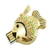 Gold Fish Shape Jewelry USB Flash Drive images