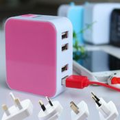 4 USB universal travel charger images