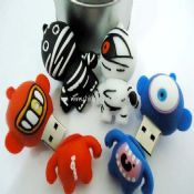 Silicone Cartoon USB Flash Disk images