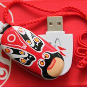 Funny facial swivel usb flash disk images