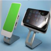 Rotating steel 4 port USB hub with phone holders images