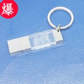 Engraved Logo Crystal Light USB Flash Disk images