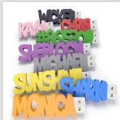 PVC Letter USB Flash Drive images