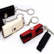 Wallet shape leather cheap mini usb flash disk with key ring images