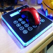 Mouse Pad Calculator with 4 Ports USB HUB Blue LED Light images